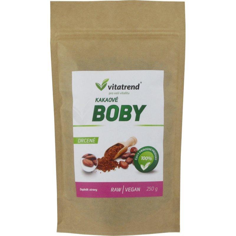 Kakaové boby Vitatrend drcené