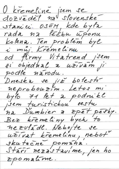 Pán Jiří a jeho skúsenosť s kremelinou Vitatrend