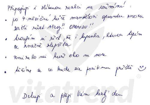 Křemelina Vitatrend - zkušenost s užíváním od Aleny U.