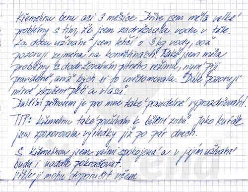 Křemelina Vitatrend - zkušenost od Andrey B.