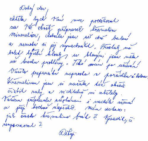 Anna H. - zkušenost s křemelinou Vitatrend