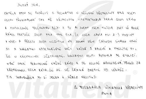 Anna M. nám napsala svou zkušenost s křemelinou Vitatrend