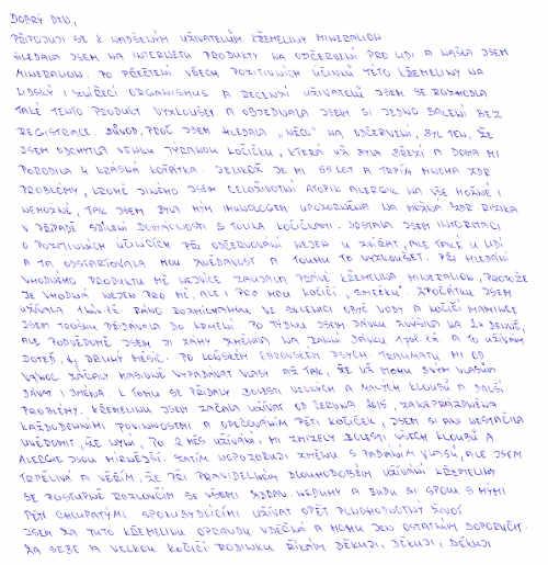 Křemelina Vitatrend - zkušenost Elišky J.