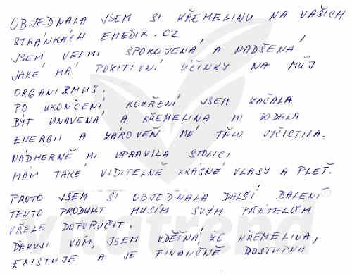 Zkušenost s křemelinou Vitatrend - Jana J.