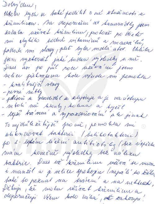 Zkušenost Lenky K. s křemelinou Vitatrend