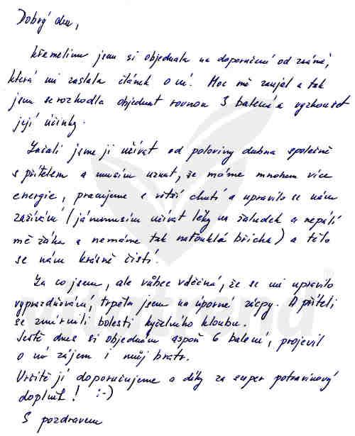 Užívání křemeliny Vitatrend - zkušenost Lenky S.