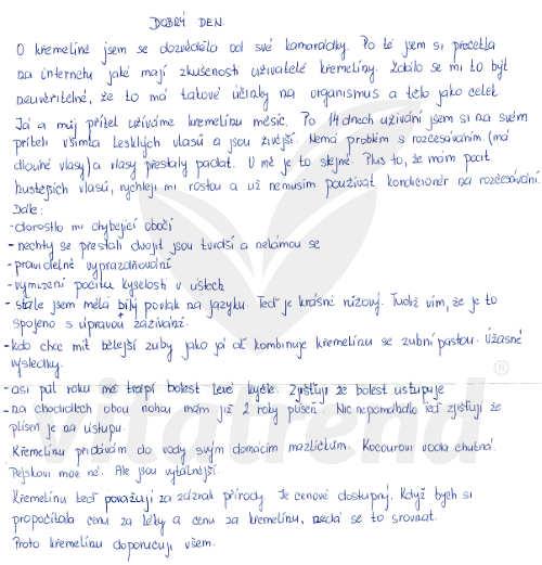 Zkušenost s křemelinou Vitatrend - Libuše K.