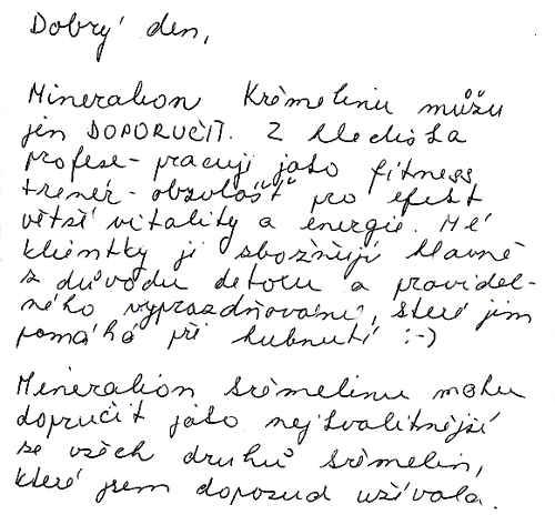 Křemelina Vitatrend - zkušenost od Lucie D.