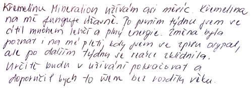Marekova S. zkušenost s křemelinou Vitatrend