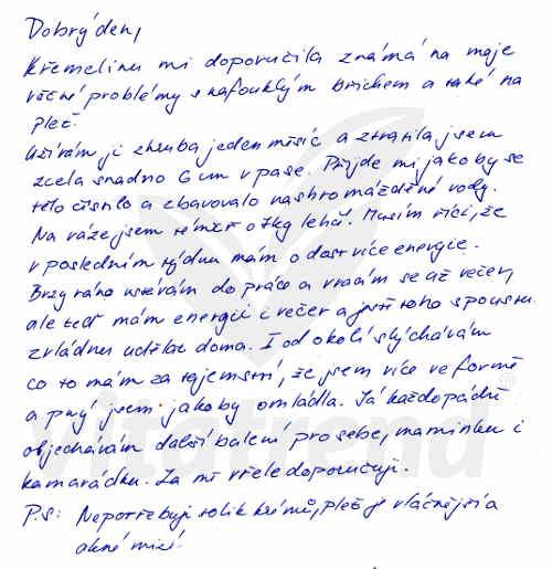 Zkušnost Martiny N. s užíváním křemeliny Vitatrend