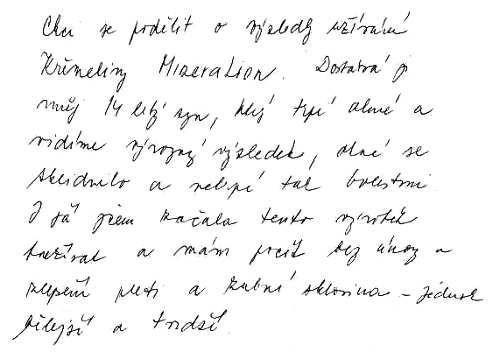 Zkušenost s křemelinou Vitatrend Silvii H.