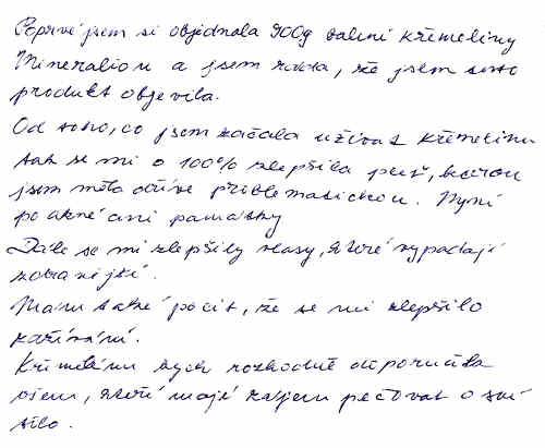 Zkušenost s křemelinou Vitatrend - Dominika V.