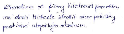 Zkušenost Hany S. s užíváním křemeliny od Vitatrend
