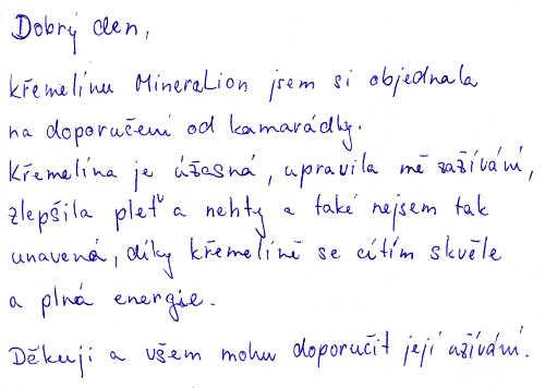 Zkušenost s křemelinou - Ivana P.