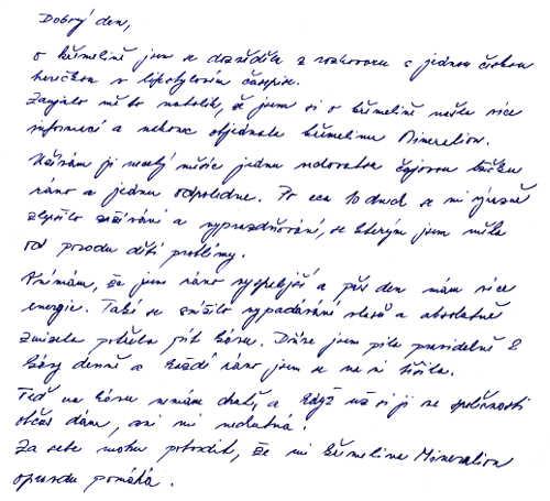 Křemelina Vitatrend - zkušenost od paní Kláry J.