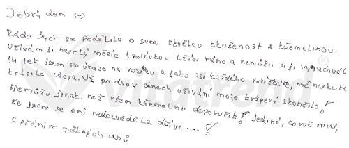 Křemelina Vitatrend - zkušenost Květy K.