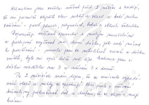Křemelina od firmy Vitatrend - zkušenost Mileny B.