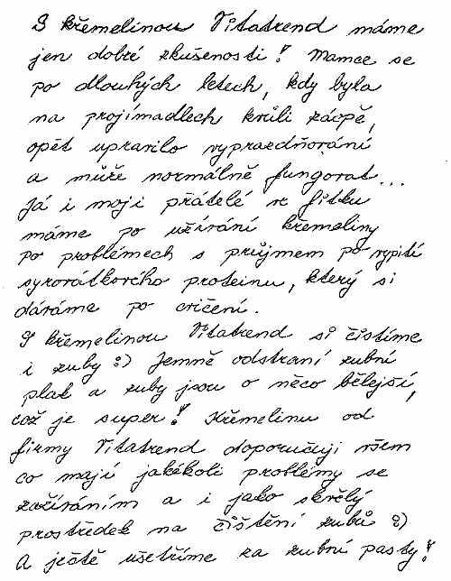Pana Pavla C. zkušenost s křemelinou Vitatrend